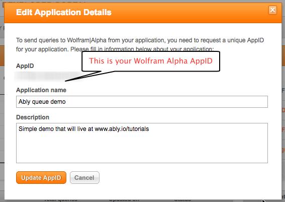 Wolfram app ID