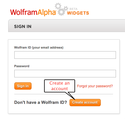 Wolfram sign up